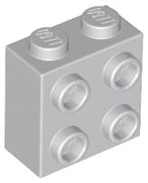 Round 1 x 1 with 2 White Squares Pattern Lego 98138pb072 x2 Tile