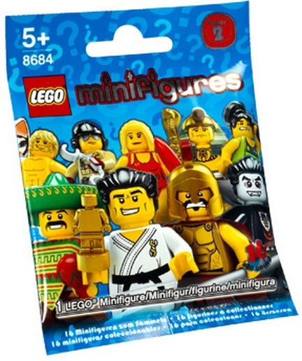 From col02-10 Collectible Minifigure New Lego Series 2 Weightlifter col026